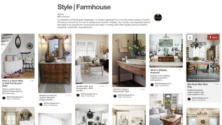 Farmhouse Pinterest Board