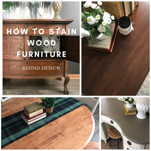 How to Stain Wood Furniture Image