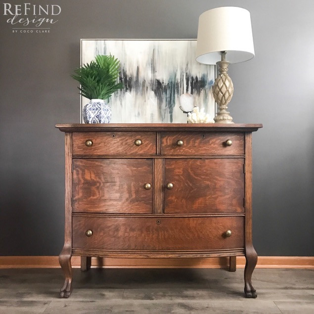 Antique Clawfoot Buffet Stained in GF Java