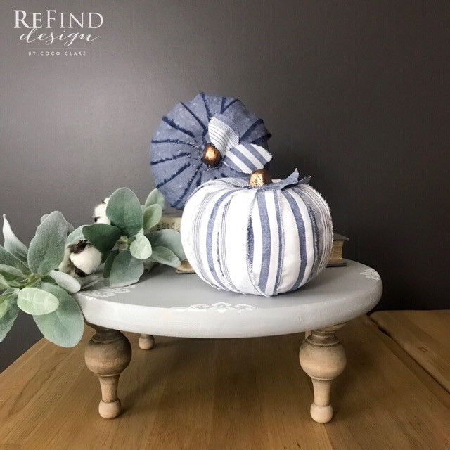 Farmhouse DIY Fabric Pumpkins