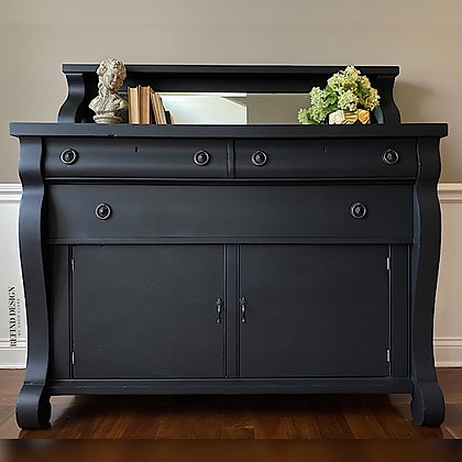 Antique Empire Buffet with Mirror