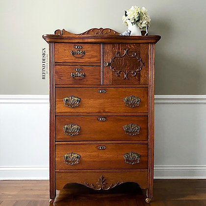 Antique Victorian Tall Dresser