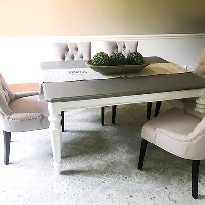 Farmhouse Pine Dining Table with Leaf