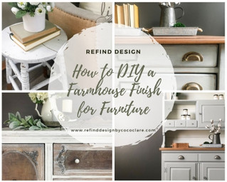 How to Master the Rustic, Farmhouse Finish for Furniture Make-Overs