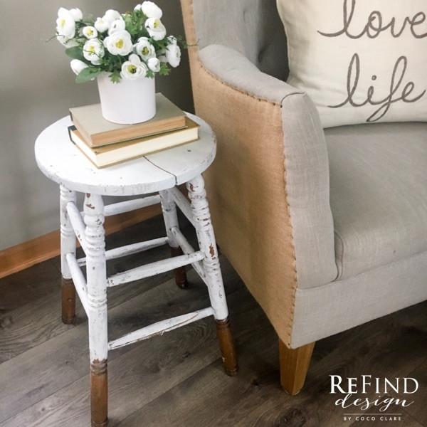 ReFind Design's Antique Stool