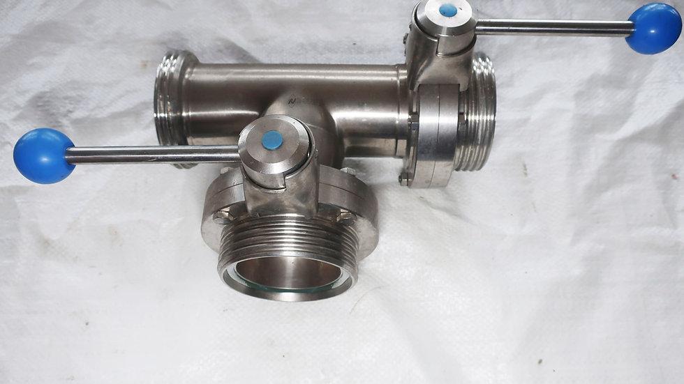 Затвор 3-Х ходовой  дисковый  DN-80 Alfa-laval