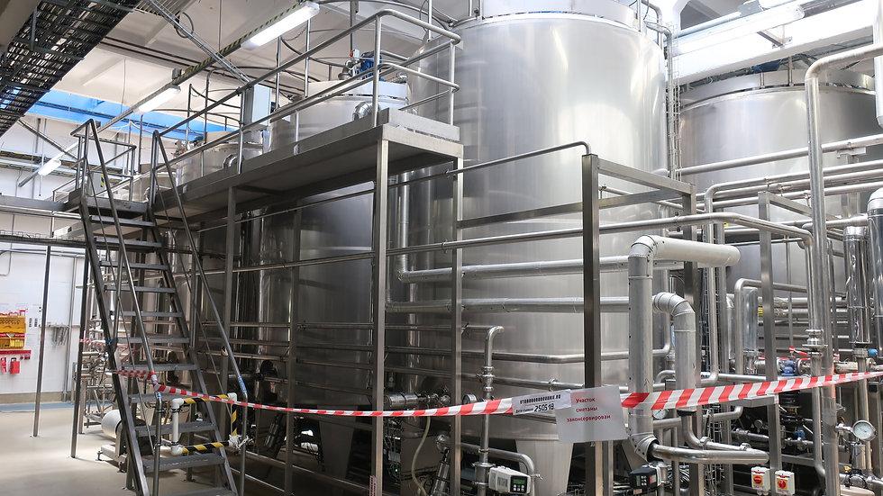 Цех ферментации сметаны