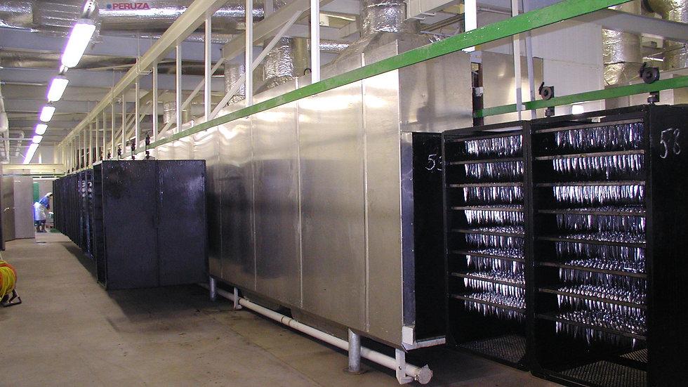 Двух туннельная коптильная печь