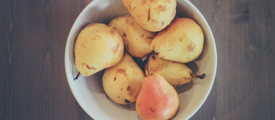 Les produits stars du mois d'Octobre, la poire et le céleri
