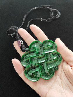 Endless Knot Natural Jadeite (Type A