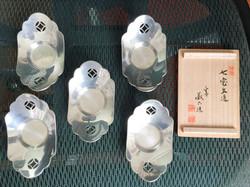 纯锡花形茶托-藏六造