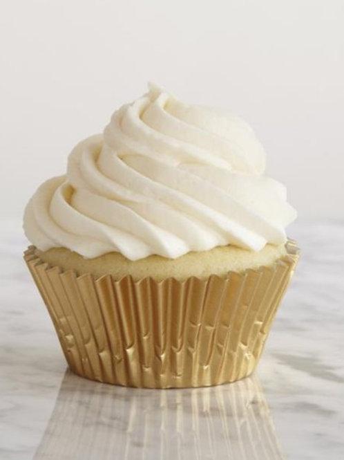 Vanilla Stuffed Cupcake