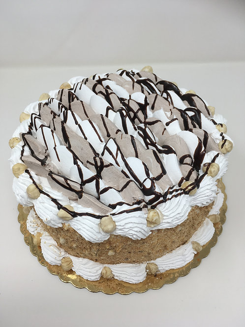 Nocciola (Hazelnuts) Gelato Cake