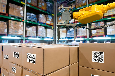 Smart logistic industry 4.0 , QR Codes A