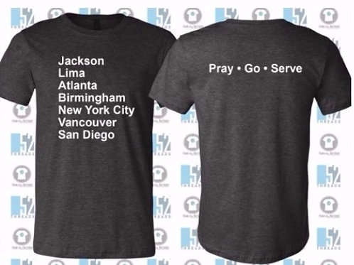 Adult Gray T-Shirt - Youth Missions Fundraiser