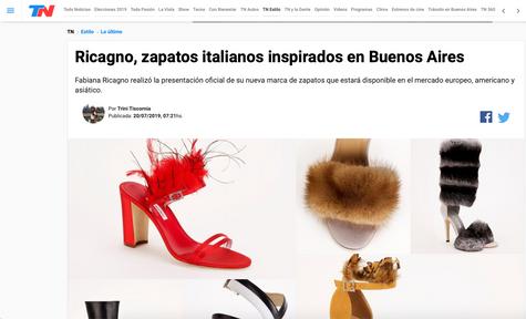 TN: Ricagno, zapatos italianos inspirados en Buenos Aires