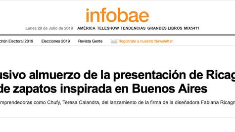 INFOBAE: El exclusivo almuerzo de la presentación de Ricagno, la marca de zapatos inspirada en Bueno