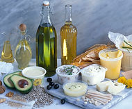 chopping-board--oil-bottles-and-differen