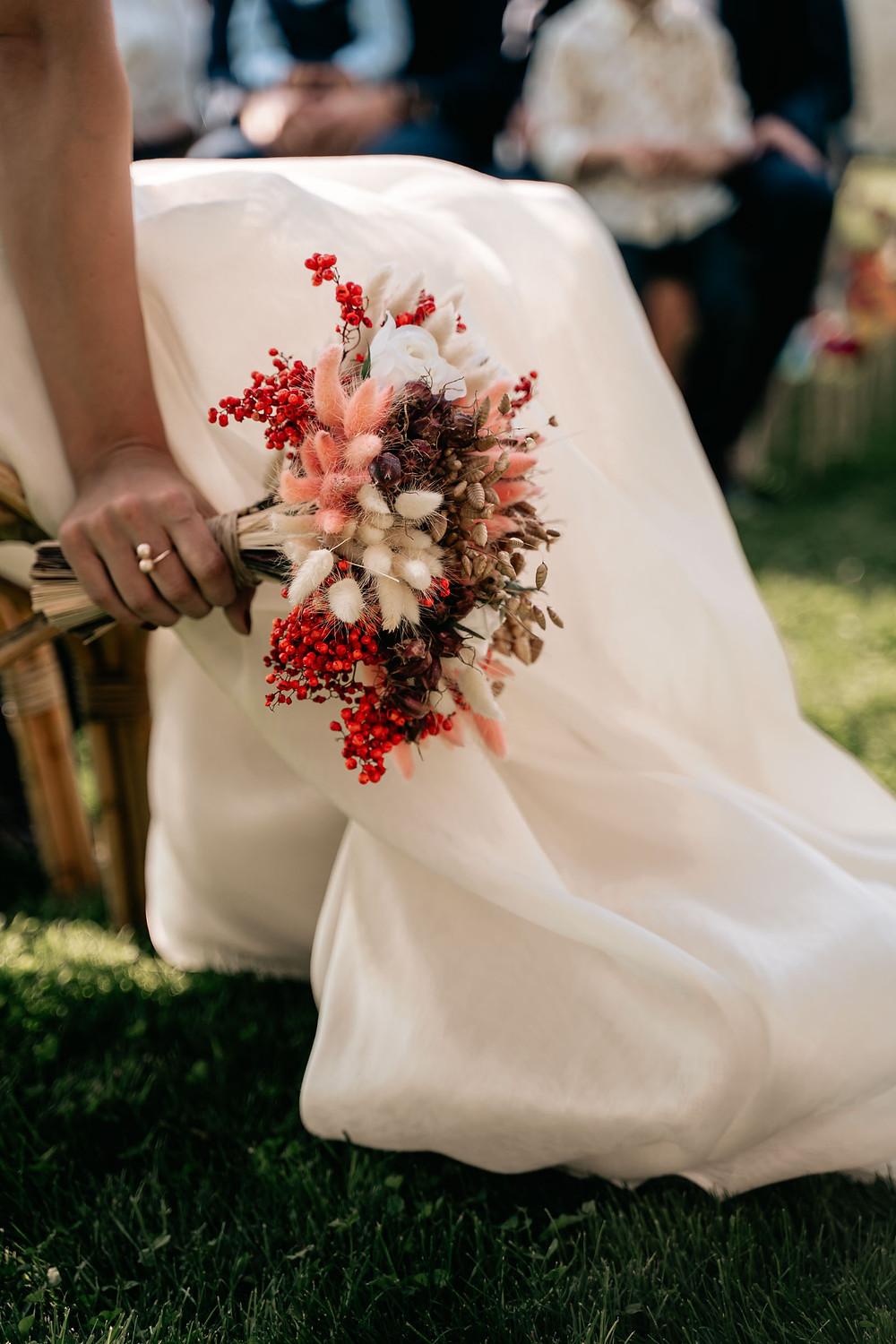 Bouquet de fleurs séchées - Mariage au Carré 1705-Angoulins (17)