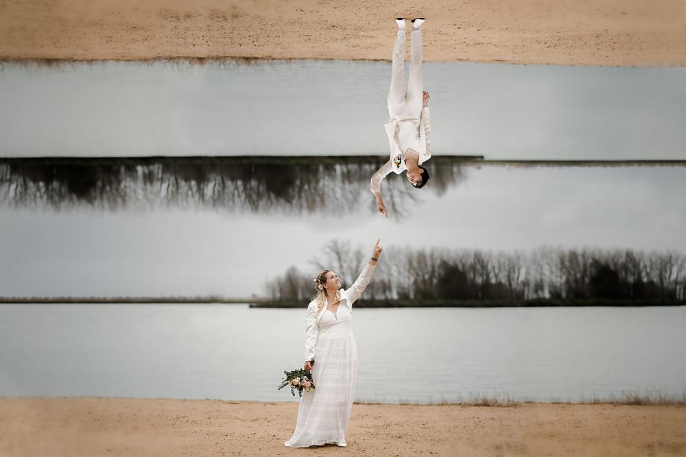 mariage femmes montage photo salle des guifettes à Luçon