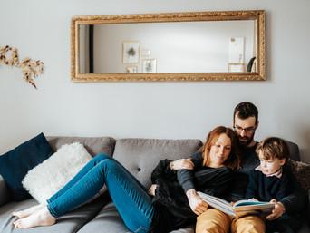 Cocooning | Séance photo en famille à domicile {La Rochelle}