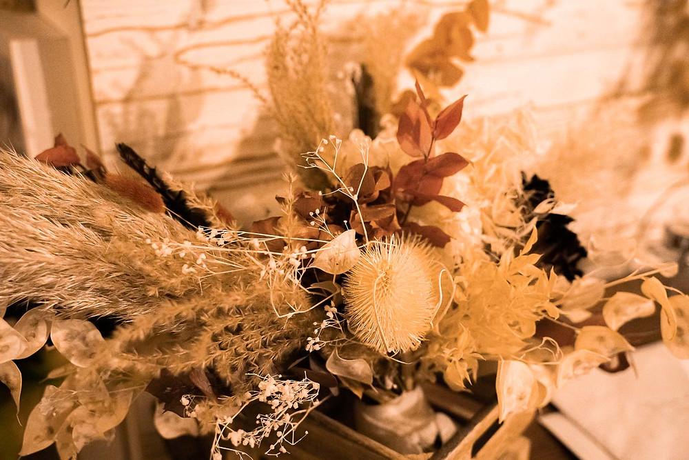 Bouquet de mariée en fleurs séchées par l'instantF à la rochelle