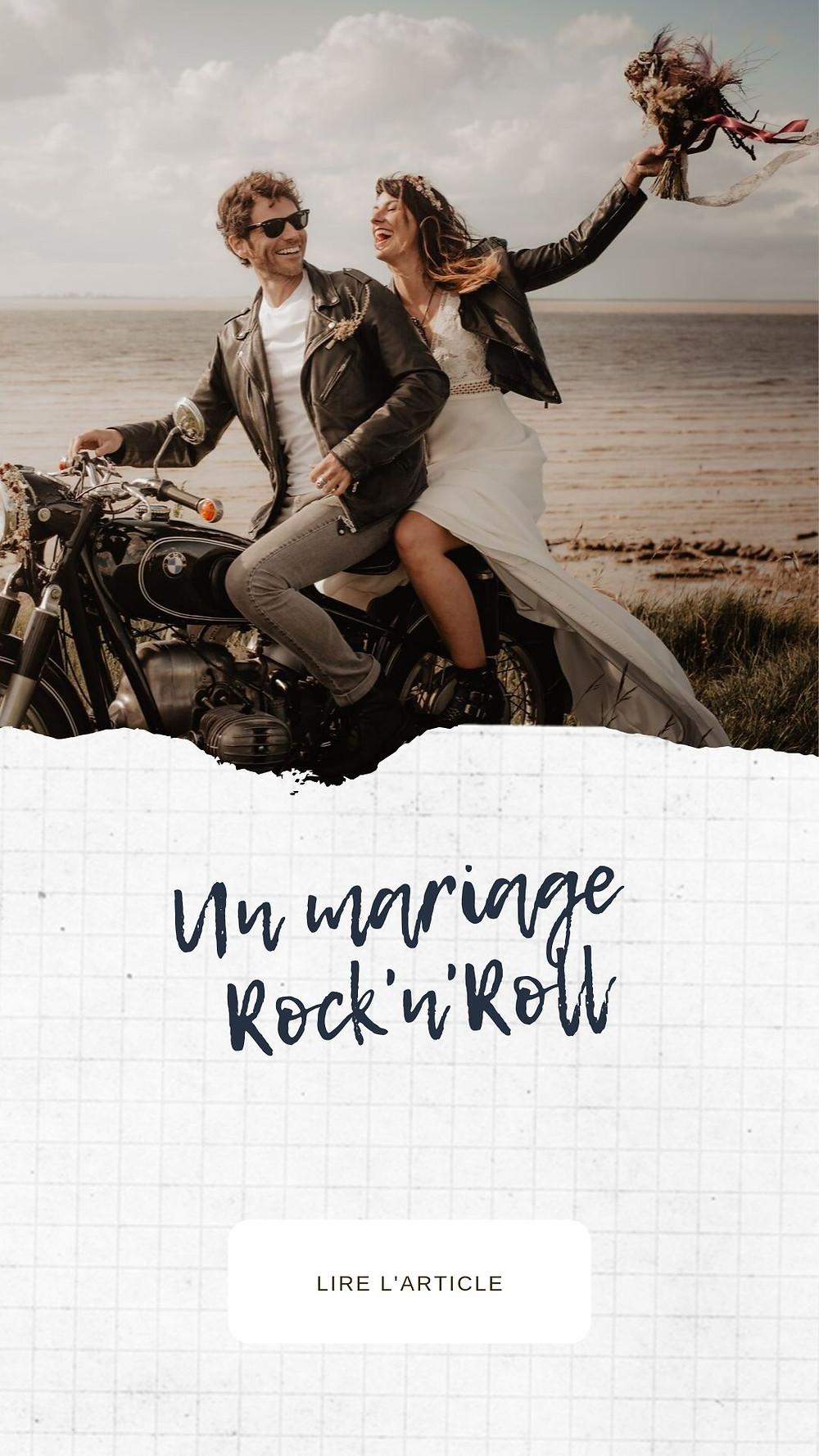 Photo de Mariage à moto, dans le vent à La Rochelle