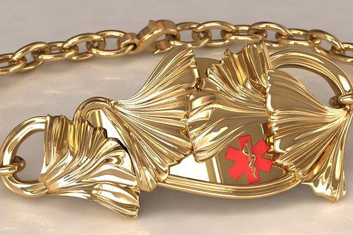 14K Gold Ginkgo Medical Bracelet