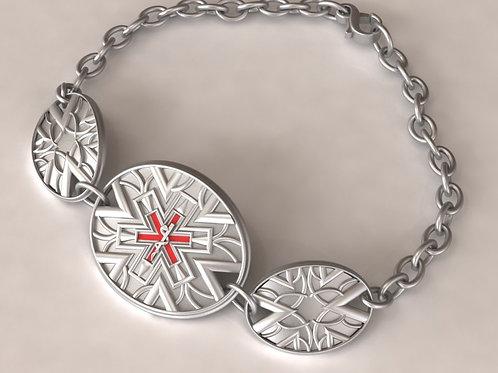 Silver Deco Three Piece Medical ID