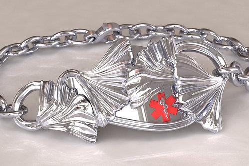 Silver Ginkgo Medical Bracelet