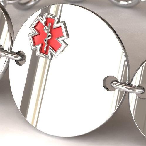 Silver Circle Medical Bracelet