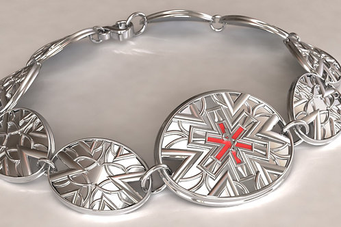 Silver Deco Medical ID with custom links