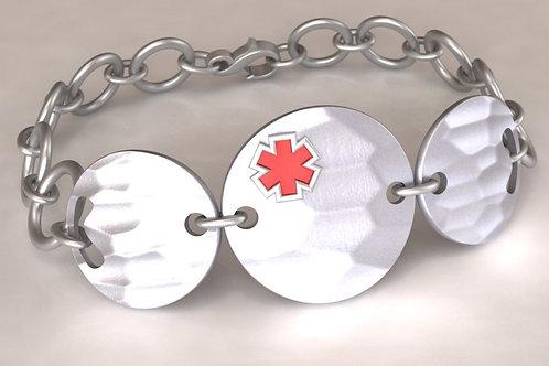 Silver Circles Medical Bracelet