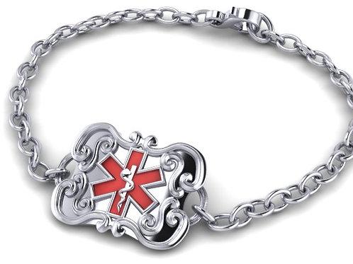 Silver Flatware Medical Bracelet