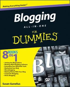 Blogging All-In-One for Dummies book cover