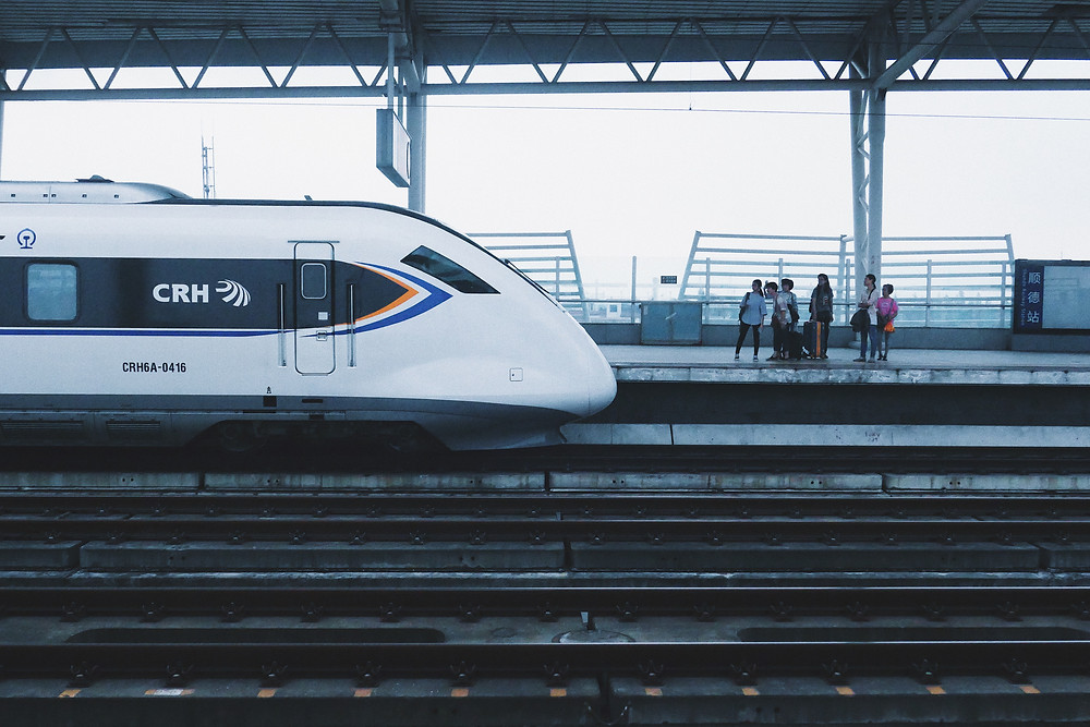 high speed bullet train on track