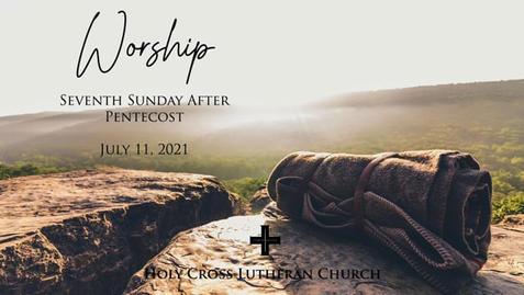Sunday, July 11, 2021