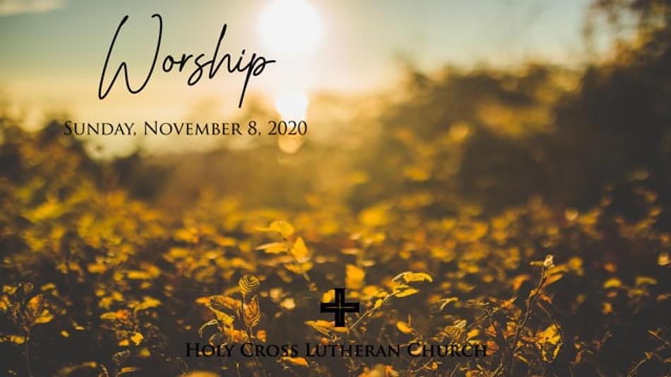 Sunday, November 8, 2020