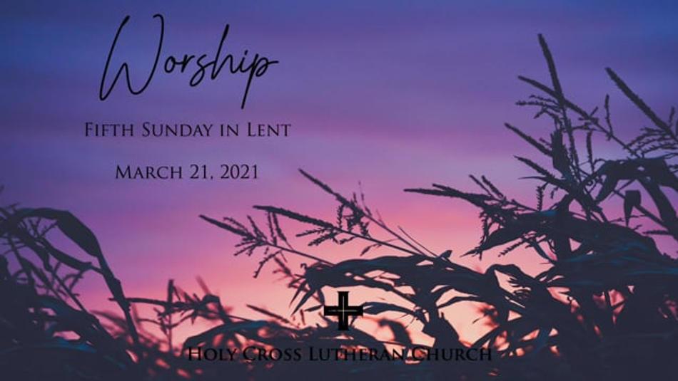 Sunday, March 21, 2021