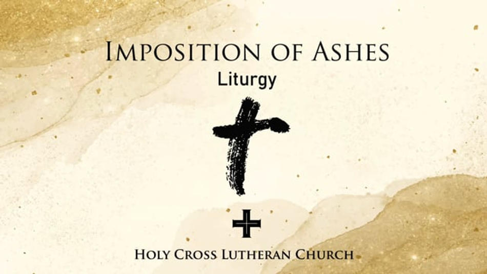 Imposition of Ashes Liturgy