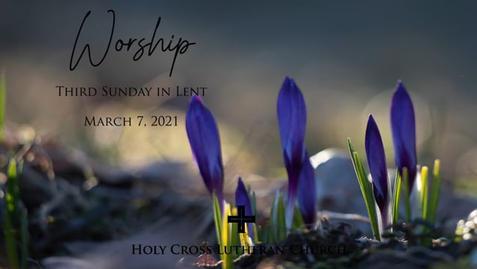 Sunday, March 7, 2021