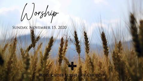Sunday, November 15, 2020