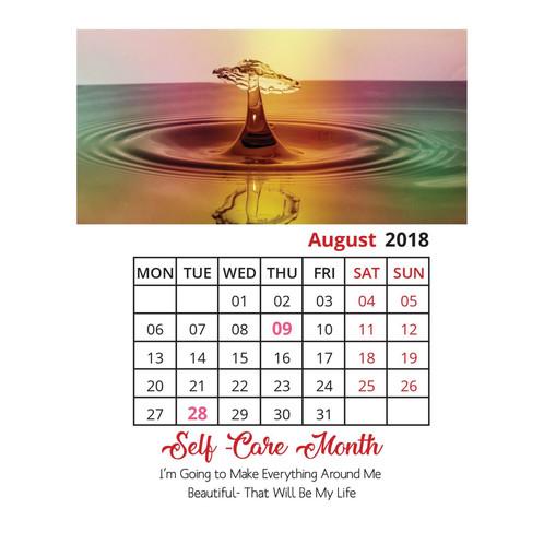 2018 Printable Calendar 2019 Printable Calendar Motivational