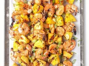 Grilled Shrimp & Pineapple Skewers