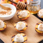 Grilled Peaches with Cinnamon Honey Cream