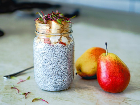 Pear/White Chocolate Chia Seed Pudding