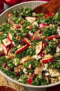 Autumn Kale Apple Salad
