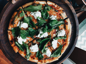 Spinach Tomato & Goat Cheese Pizza