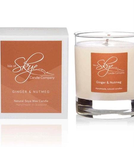 Ginger & Nutmeg glass jar candle