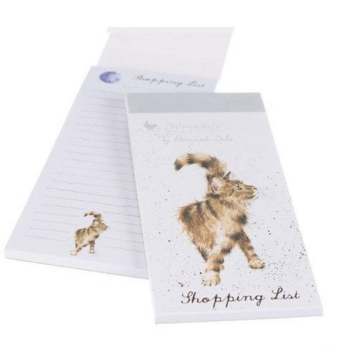 Magnetic shopping list - Cat